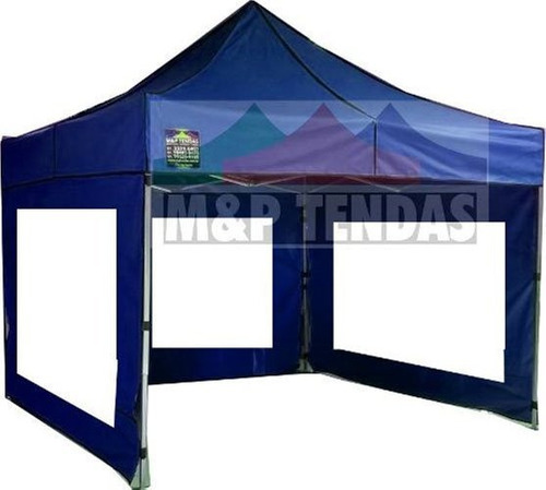 Tenda Sanfonada 3x3 Nylon Com 3 Laterais Cristal