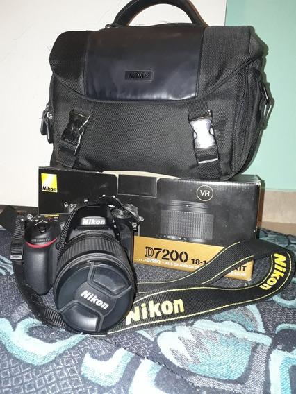 Camara Pro Nikon D7200 Kit 18/140 + Bolso + Sd 32 G C10