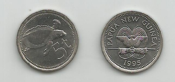 Moneda Papúa Nueva Guinea, Tortuga Marina 5 T. 1995 S/c