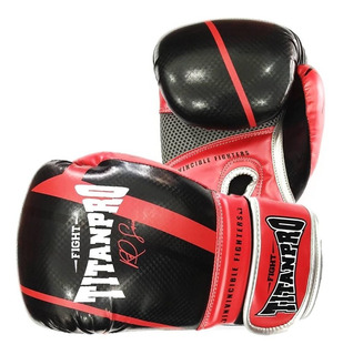 Luva Muay Thai E Boxe Titan Pro Pu De Carbono Original