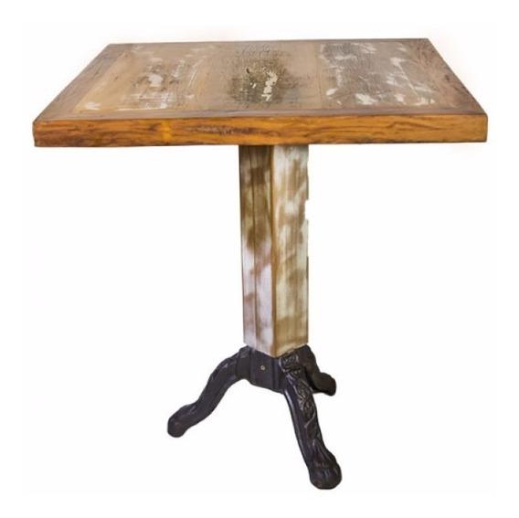 Mesa 4 Lugares Rústica (madeira Demolição) - Brum