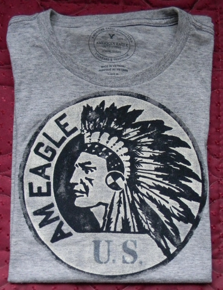 Remera American Eagle Outfitters Hombre S/p Gris