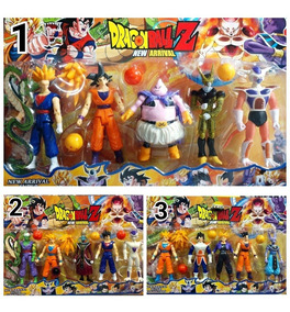 Kit 5 Bonecos Dragon Ball Articulado 15 Cm Unidade