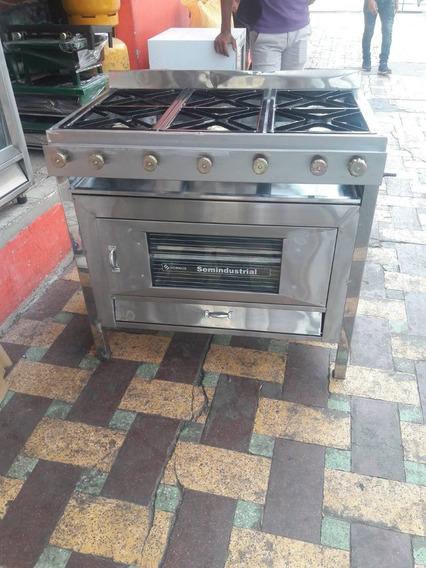 Cocina Industrial De 6 Quemadores Con Horno