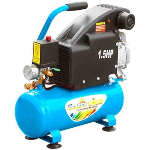 Compresora De Aire Safari 1.5hp 9 Litros Azul 8kc-9l Bl