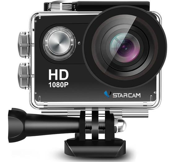 Camara Deportiva Sumergible Video Filmadora Full Hd 1080p Lcd Con Accesorios Vstarcam
