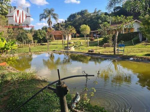 Imagem 1 de 30 de Ótima Chácara Com 3 Dormitórios, Piscina, Lago, Pomar, Acesso Todo Asfaltado, À Venda, 1600 M² Por R$ 370.000 - Zona Rural - Pinhalzinho/sp - Ch0983