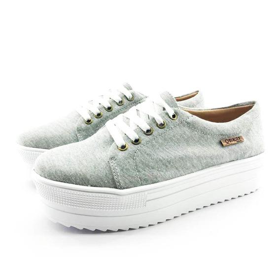 Tênis Flatform Quality Shoes 007 Mescla Sola Alta