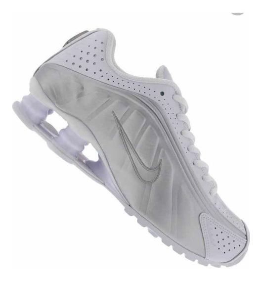 Tênis Nike Shox R4 Branco Metálico Feminino Novo Original