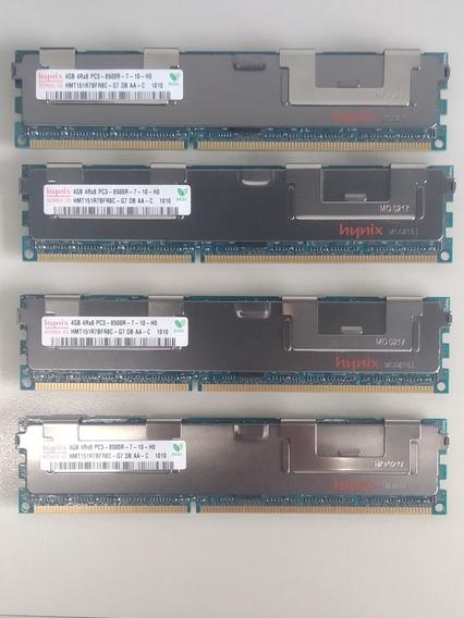 Memoria Ddr3 16 Gb (4 X 4gb) - Servers Hynix Dell Pc3 8500