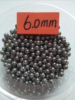Esferas De Aço 6mm P/ Estilingue E Airsoft Bbs 100 Unidades