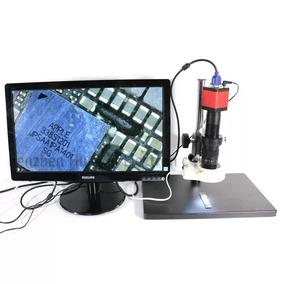 Câmera Microscópio 720p Digital Hdmi Vga 14mp + Lente 130x
