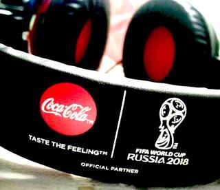 Auriculares Coca-cola Oficiales Copa Mundial Fifa Rusia 2018