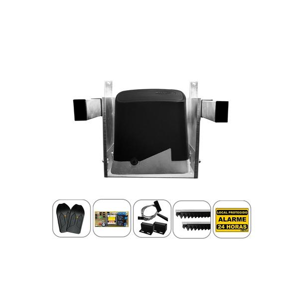Kit Motor Portão Eletrônico Deslizante Ppa 1/4 Suporte Aéreo