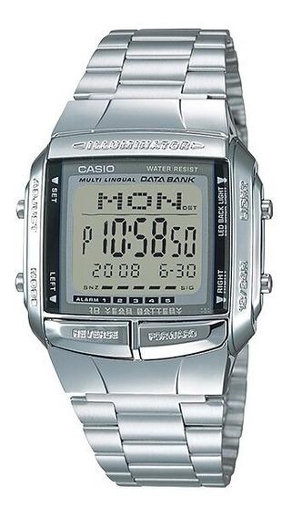 Relógio Masculino Casio Prata Data Bank Db-360-1adf-sc + Nf