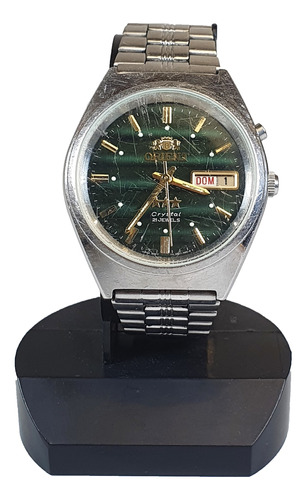 Relógio De Pulso Antigo Orient Crystal Verde