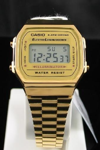 Casio Vintage Dourado A168 Wa