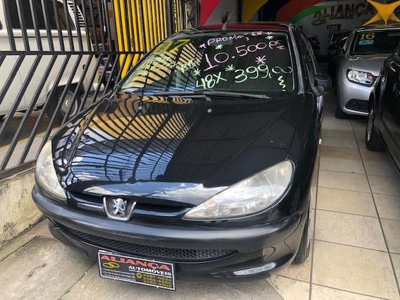 Peugeot 206 Sensation 1.4 Flex, 4 Portas, 2007, Preto