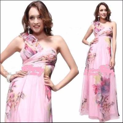 Vestido Floreado De Gasa8 Importado