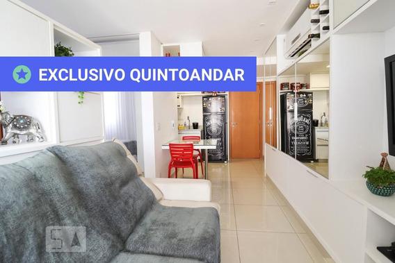 Apartamento No 5º Andar Mobiliado Com 1 Dormitório E 1 Garagem - Id: 892967332 - 267332