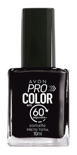 Imagem 1 de 1 de Avon - Pro Color 60 Segundos - Esmalte - Preto Total