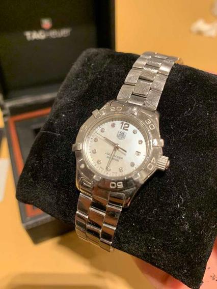 Relógio Tag Heuer Aquaracer Diamante Branco Waf1415