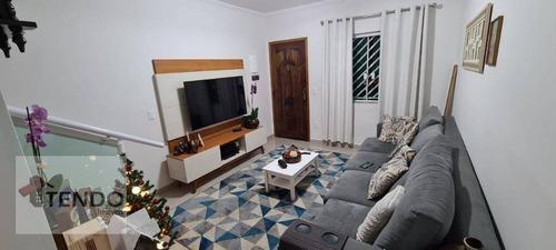 Imagem 1 de 15 de Imob01 - Sobrado 93 M² - Venda - 3 Dormitórios - 1 Suíte - Jardim Alvorada - Santo André/sp - So0454
