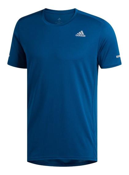 adidas Remera Running Hombre Run Azul