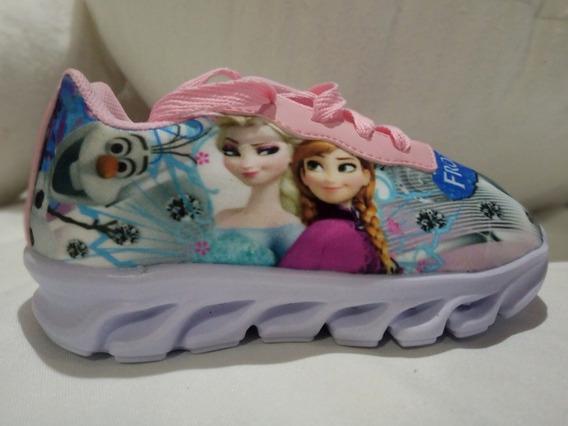 Frozen Zapatillas De Luces Niñas