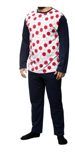 Imagen 1 de 10 de Pijama Hombre Wacky Invierno 100% Algodon Talle 40 Al 46