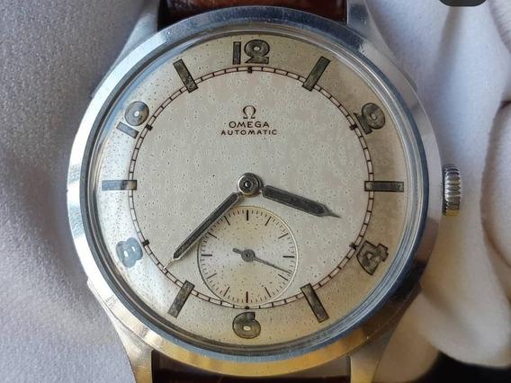 Raro Relógio Omega Automático Bumper Art Déco Aço Anos 40