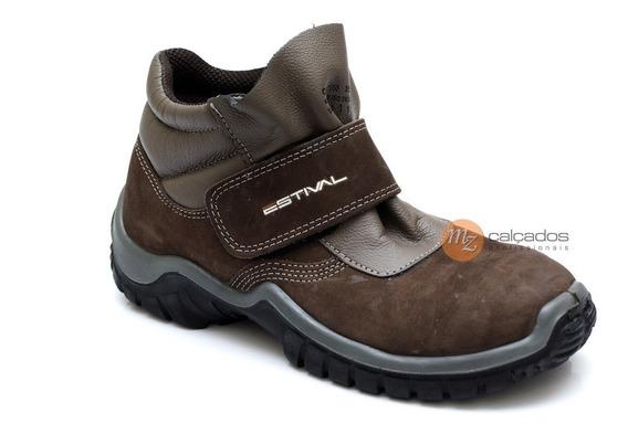 Bota Epi Velcro Nobuck Marrom Estival Wo10161s1 Ca 27850