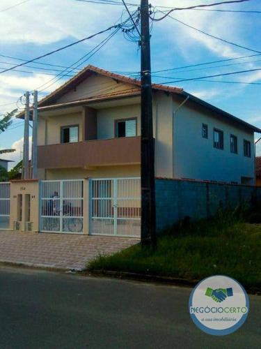 Imagem 1 de 9 de Casa Sobreposta Com 2 Dormitórios À Venda, 61 M² Por R$ 155.000 - Loty - Itanhaém/sp - Ca0624