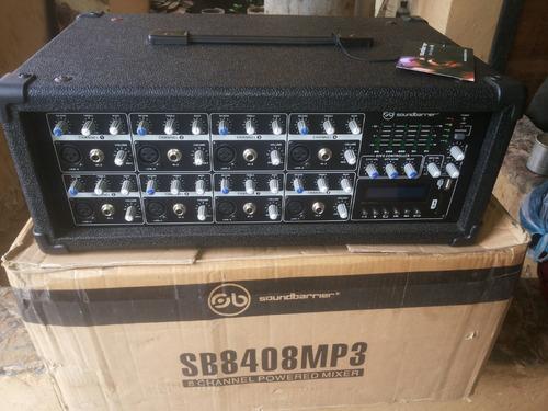 Consola Amplificada Soundbarrier 8 Canales Usb/sd 400w Nuevo