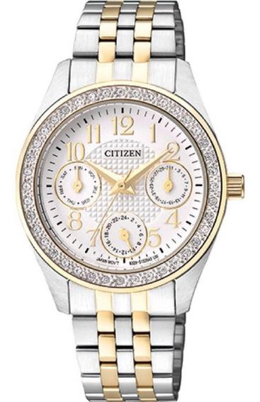 Relógio Feminino Citizen Bicolor Quartz 3.2 Cm Tz28388b