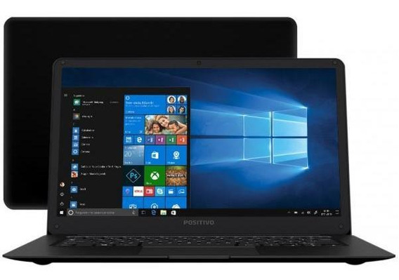 Notebook Positivo Motion Black Q 232a Intel Atom - 2gb Ssd 3
