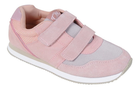 Zapatilla Urb Jogging Rosado Velcro Girl Colloky