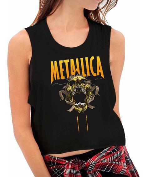 Tops Estampados Personalizados Metallica4 Mujer