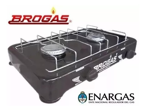 Anafe Brogas Dos 2 Hornallas Aprobado Enargas Gas Envasado