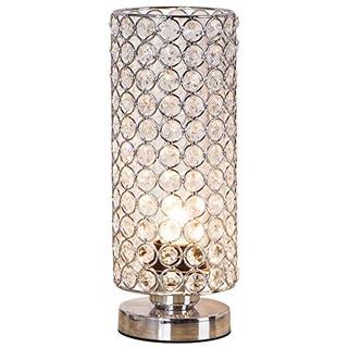 Zeefo Crystal Table Lamp, Nightstand Decorative Room Lampara