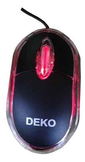 Mouse Usb Optico Scroll Leds Vermelho Classico Novo Rl-m01