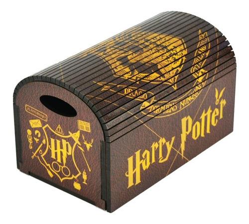 Imagem 1 de 4 de Caixa Bau Ripado Organizador Porta Joias Harry Potter