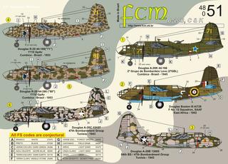 Decalque Douglas A-20 B/c/k Fcm 48051 1/48 Novo!