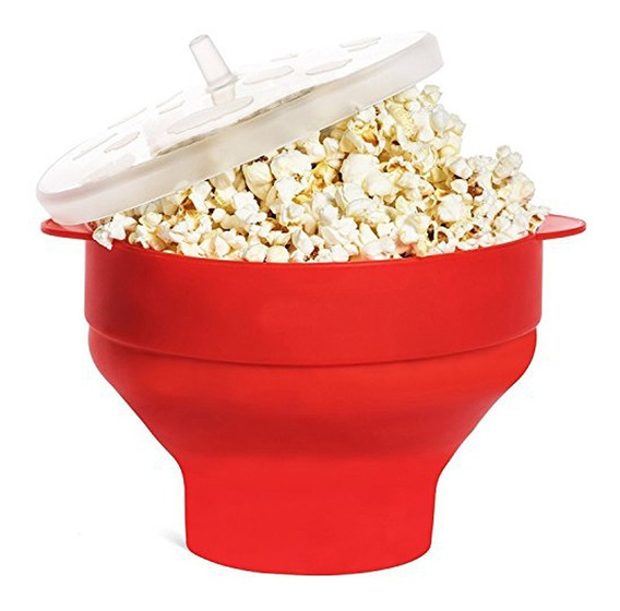 Pochoclera Silicona P/microondas Popcorn Listo En 4min.