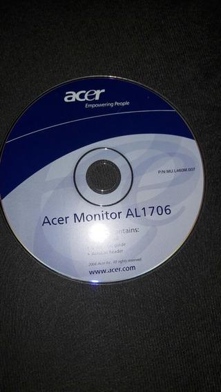Cd De Instalação Monitor Acer Al1706 Frete Grátis P/brasil