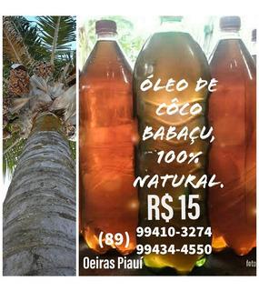 Óleo De Côco Babaçu 100% Natural.
