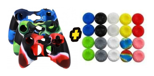 Forro Silicona Xbox  360 + 2 Grips Diseños Xbox 360