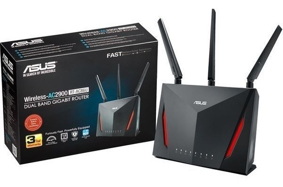 Roteador Gigabit Gamer Asus Rt-ac86u - Ac2900 Dual-band