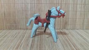 Lote 5142 - Cavalo Cinza E Branco - Montarias Do Velho Oeste