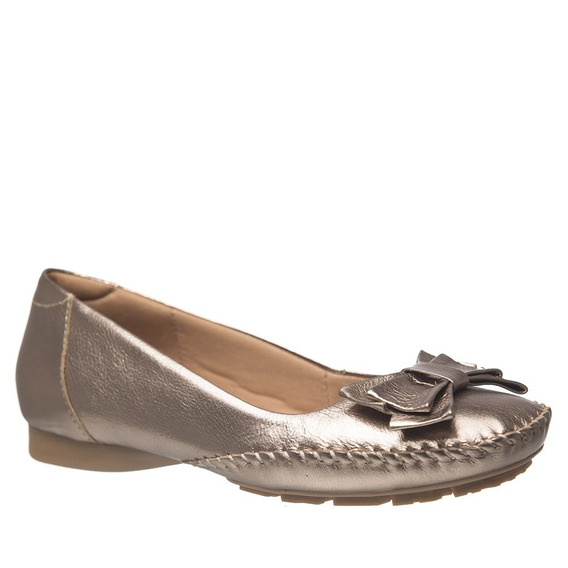 Sapato Feminino 2778 Em Couro Metalic Doctor Shoes